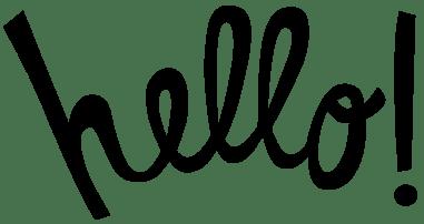 Hello-Black-Font-Image